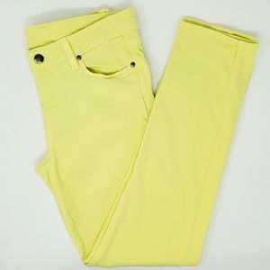 Paige Peg Skinny Ankle Jeans Yellow Key Lime sz 29